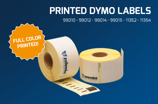 Printed Dymo labels