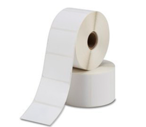 Bixolon 800263-105BIX Compatible Labels, Top, 76mm x 25mm, 2580 Labels, 25mm Core, White, Permanent