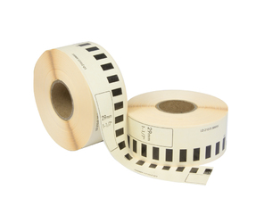 Brother DK-22210 compatible labels, 29mm x 30.48m, white, permanent