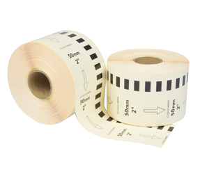 Brother DK-22223 compatible labels, 50mm x 30.48m, white, permanent