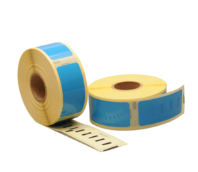Dymo 11352 Compatible Labels, 54mm x 25mm, 500 Labels, Blue, Permanent