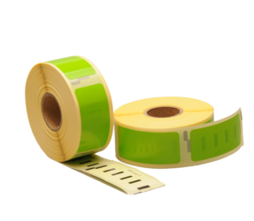 Dymo 11352 Compatible Labels, 54mm x 25mm, 500 Labels, Green, Permanent