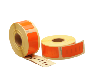 Dymo 11352 compatible labels, 54mm x 25mm, 500 labels, orange, permanent