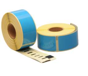 Dymo 99010 compatible labels, 89mm x 28mm, 260 labels, blue, permanent