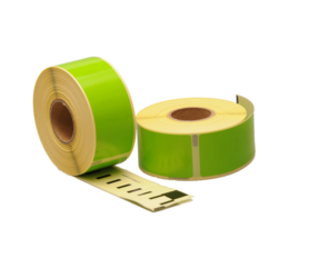 Dymo 99010 compatible labels, 89mm x 28mm, 260 labels, green, permanent