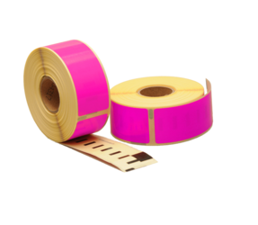 Dymo 99010 compatible labels, 89mm x 28mm, 260 labels, pink, permanent