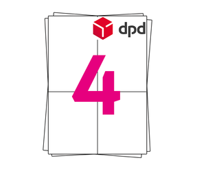 DPD Label on A4 Sheet Labels, 105mm x 148mm (4