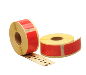 Dymo 99010 compatible labels, 89mm x 28mm, 260 labels, red, permanent