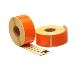 Dymo 99010 compatible labels, 89mm x 28mm, 260 labels, orange, permanent
