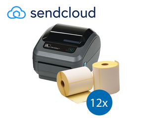 SendCloud Starter Package | Zebra GK420D Ethernet Printer + 12 Zebra Label Rolls in 102mm x 150mm