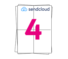 SendCloud Label on A4 Sheet Labels, 105mm x 148mm (4