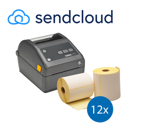 SendCloud Starter Package | Zebra ZD420D Ethernet Printer + 12 Zebra Label Rolls in 102mm x 150mm