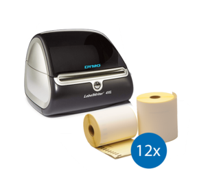 Dymo Starter Package | Dymo LabelWriter 4XL + 12 rolls compatible Dymo S0904980