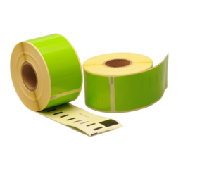Dymo 99012 compatible labels, 89mm x 36mm, 260 labels, green, permanent