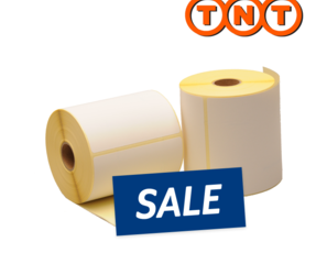Zebra compatible TNT shipping labels, 102mm x 152mm, 300 labels, 25mm core, white, permanent