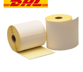 Zebra Compatible DHL Shipping Labels, 102mm x 150mm, 300 Labels, 25mm Core, White, Permanent