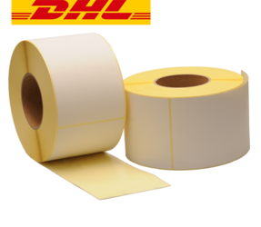 Zebra compatible DHL shipping labels, 102mm x 150mm, 900 labels, 76mm core, white, permanent