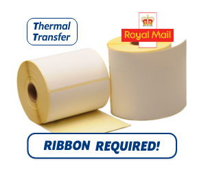 TTR Zebra Royal Mail (800294-605) compatible shipping label, 102mm x 152mm, 300 Labels, 25mm core