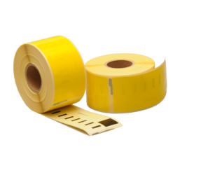 Dymo 99012 compatible labels, 89mm x 36mm, 260 labels, yellow, permanent