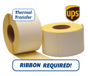 TTR Zebra UPS (87985) compatible shipping label, 102mm x 152mm, 900 Labels, 76mm Core
