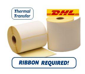 TTR Zebra DHL (800294-605) compatible shipping label, 102mm x 152mm, 300 Labels, 25mm core