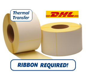 TTR Zebra DHL (800294-605) compatible shipping label, 102mm x 152mm, 900 Labels, 76mm core