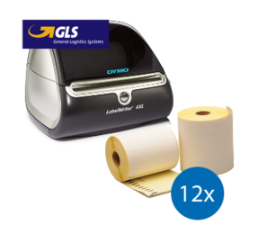 Starter Package GLS | Dymo LW 4XL + 12 rolls compatible Dymo S0904980