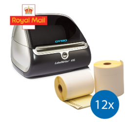 Starter Package Royal Mail | Dymo LW 4XL + 12 rolls compatible Dymo S0904980