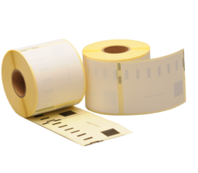 Dymo 99015 compatible labels, 70mm x 54mm, 320 labels, white, removable