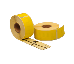 Seiko SLP-1YLB compatible labels, 89mm x 28mm, 260 labels, yellow, permanent