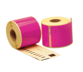 Seiko SLP-SRL compatible labels, 101mm x 54mm, 220 labels, pink, permanent