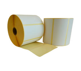 Zebra (87000) compatible labels, 100mm x 50mm, 1.300 labels, 25mm core, white, removable