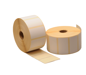 Zebra compatible labels, 57mm x 32mm, 2.100 labels, 25mm core, white, removable