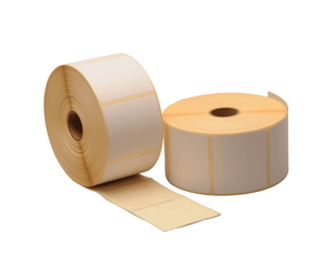 Zebra compatible labels, 57mm x 51mm, 1.370 labels, 25mm core, white, permanent