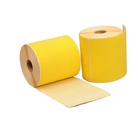 Zebra (800264-605) compatible labels, 102mm x 150mm, 280 labels, 25mm core, yellow, permanent