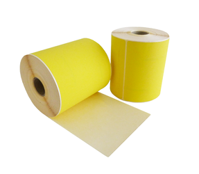 Zebra compatible labels, 102mm x 210mm, 195 labels, 25mm core, yellow, permanent