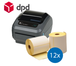 DPD Starter Package | Zebra GK420D Printer + 12 Zebra Label Rolls in 102mm x 150mm