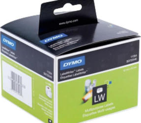 Original Dymo 11354 compatible labels, 57mm x 32mm, 1.000 labels, white, permanent