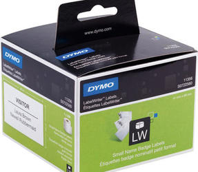 Original Dymo 11356 labels, 89mm x 41mm, 300 labels, white, removable
