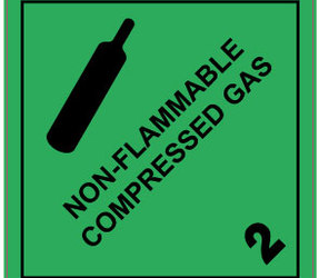 IMO 2.2 Non-Flammable Compressed Gas Labels, 100mm x 100mm, 1000 Labels, 76mm Core