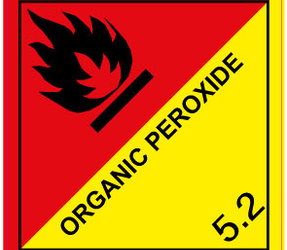IMO 5.2 Organic Peroxide Label, 100mm x 100mm, 1000 Labels, 76mm Core