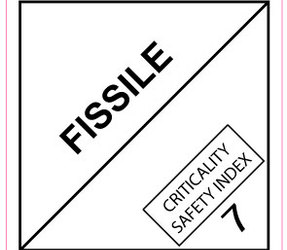 IMO 7.4 Fissile label, 100mm x 100mm, 1.000 labels, core 76mm