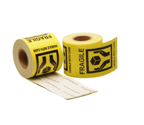 Handle with care label, 50,8mm x 76,2mm, 200 labels, permanent