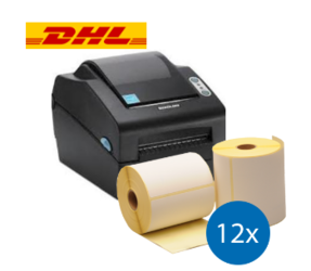 DHL Starter Package | Bixolon SLP-DX420EG Ethernet Printer + 12 Label Rolls in 102mm x 210mm
