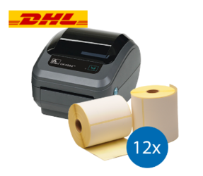 DHL Starter Package | Zebra GK420D Ethernet Printer + 12 Label Rolls in 102mm x 210mm
