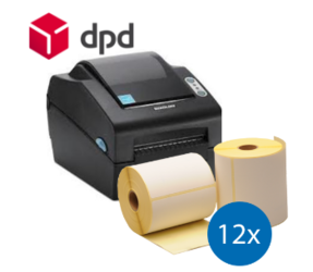 DPD Starter Package | Bixolon SLP-DX420G Printer + 12 Label Rolls in 102mm x 150mm