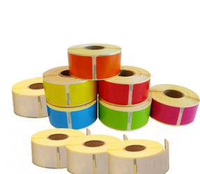 Dymo 11352 Rainbow Package | 54mm x 25mm, 6 colours + 4 white rolls