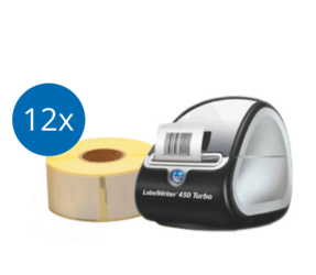 Digital Stamps Package | Dymo LabelWriter 450 Turbo + 12 Dymo 99010 Compatible Label Rolls