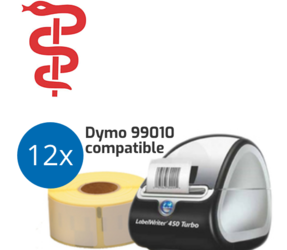 General Practitioner Starter Package | Dymo LabelWriter 450 Turbo + 12 rolls Dymo 99010