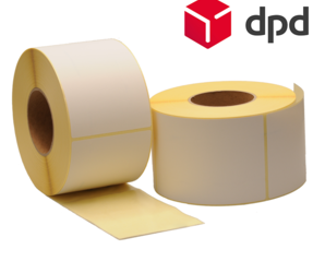 Zebra compatible DPD shipping labels, 102mm x 150mm, 900 labels, 76mm core, white, permanent